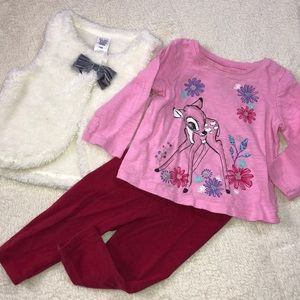BUNDLE OF toddler girl vest long sleeve leggings